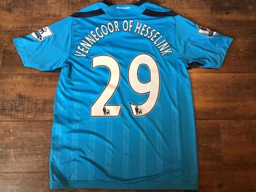 2009 2010 Hull City Vennegoor of Hesselink Player Issue Away Football Shirt